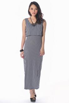 Andrea Monochrome Maxi Dress