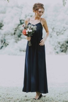 Leia Maxi Dress in Midnight Blue