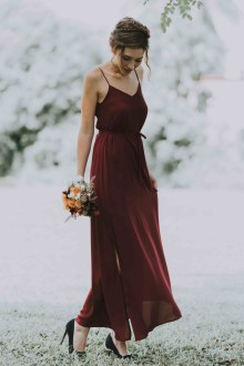 Leia Maxi Dress in Wine