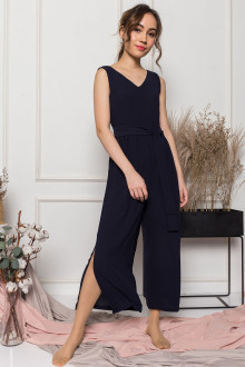 Olivia Sash Tie Jumpsuit in Black