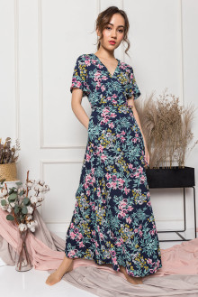 Mabel Wrap-Dress in Floral