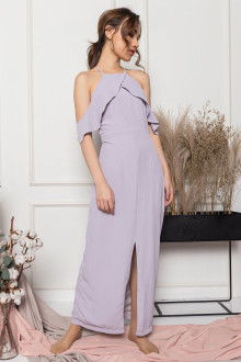 Marie Off-Shoulder Dress in Lavender
